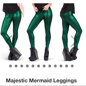 Majestic  Mermaid Leggings GREEN